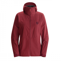 Black Diamond Liquid Point Shell Updated Women Jacket - Maroon