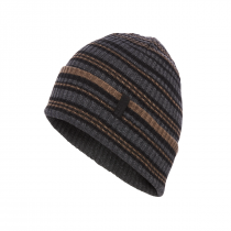 Black Diamond Cardiff Beanie - Black/Walnut Stripe