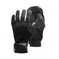 Black Diamond Wind Hood Gridtech Gloves - Black