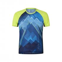 Montura Flash T-Shirt - Ash Blue/Lime green