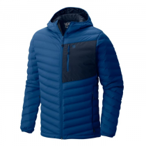 Mountain Hardwear Stretchdown Hooded Jacket - Nightfall Blue