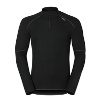 ODLO ML 1/2 ZIP X-WARM - BLACK