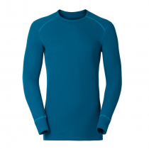 Odlo T-Shirt Col Ras du Cou ML Warm - Seaport