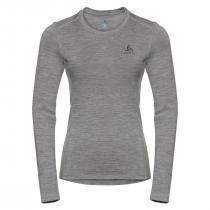 Odlo T-Shirt ML Natural 100% Merino Warm Women - Grey Melange