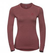Odlo T-Shirt ML Natural 100% Merino Warm Women - Roan Rouge