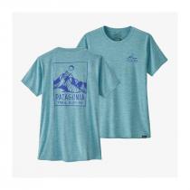 Patagonia Cap Cool Daily Graphic Shirt Women - Ridgeline Runner: Iggy Blue