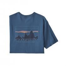 Patagonia '73 Skyline Organic T-Shirt - Tidepool Blue