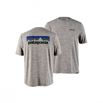 Patagonia Cap Cool Daily Graphic Shirt - P6 Logo: Feather Grey