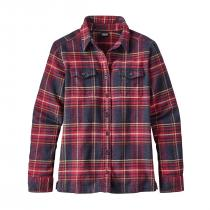 Patagonia L/S Fjord Flannel Women Shirt - Big Sky Plaid: Magenta