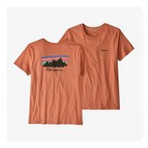 Patagonia Free Hand Fitz Roy Organic Crew T-Shirt Women - Mellow Melon