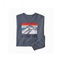 Patagonia L/S Line Logo Ridge Responsibili-Tee - Plume Grey
