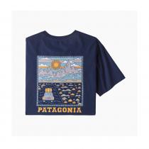 Patagonia Summit Road Organic T-Shirt - Classic Navy