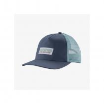 Patagonia Pastel P-6 Label Layback Woman Trucker Hat - Dolomite Blue