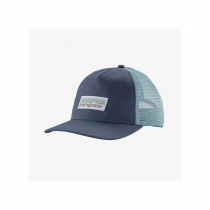 Patagonia Pastel P-6 Label Layback Woman Trucker Hat - Dolomite Blue