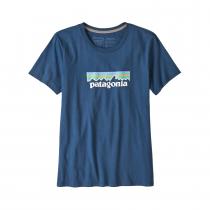 Patagonia Pastel P-6 Logo Organic Crew T-Shirt Women - Stone Blue