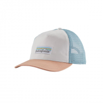 Patagonia Pastel P-6 Label Layback Trucker Hat Donna - White