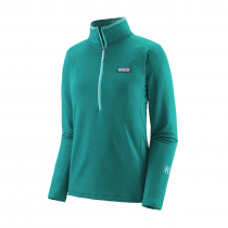 Patagonia R1 Daily Zip Neck Women - Borealis Green - Light Borealis Green X-Dye