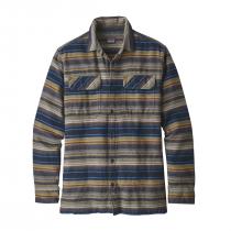 Patagonia L/S Fjord Flannel Shirt - Folk Dobby: Navy Blue