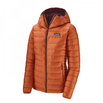 Patagonia Down Sweater Hoody Donna - Sunset Orange