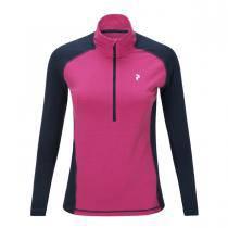 Peak Performance Multi Half Zipped Base Layer Women - Magenta Pink