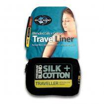 Sea To Summit Silk & Cotton Travel Liner - Traveller with Pillow Insert