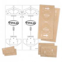 Voile Mounting template sticker pack - Split-your-own-board