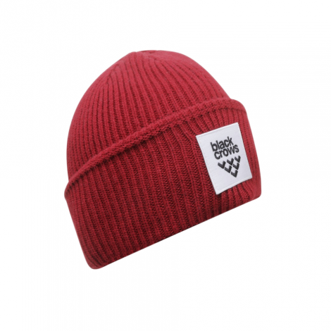 Black Crows Mori Beanie - Burgundy Red