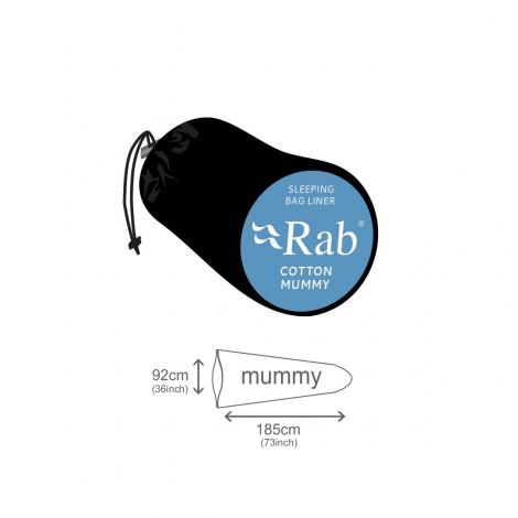 Rab Mummy Saco Sábana Algodón