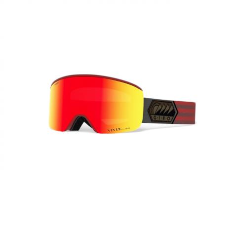 Giro Axis Masques de Ski - Dark Red Sierra/Ember + Infrared