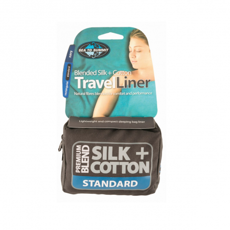 Sea to Summit Drap de Sac Premium Soie + Coton Rectangulaire Standard