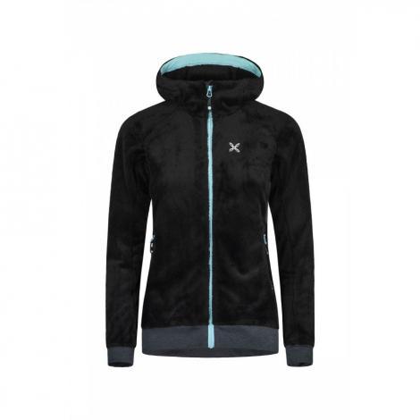 Giacca donna Montura Polar Sport Hoody - Nero/Ice Blue