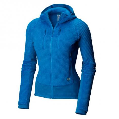 Mountain Hardwear Monkey Grid Hooded Woman Jacket - Prism Blue