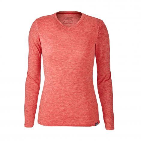 Patagonia Cap Daily L/S T-Shirt Women - Maraschino: Peak Pink X-Dye