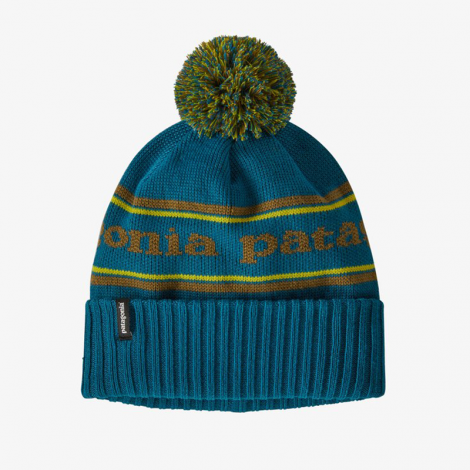 Bonnet Patagonia Powder Town - Park Stripe Knit: Crater Blue