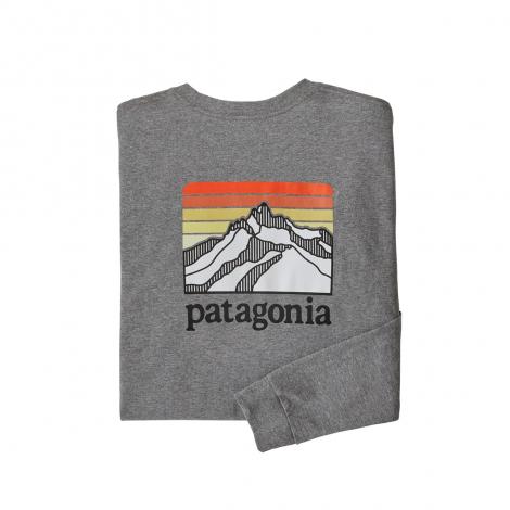 Patagonia L/S Line Logo Ridge Responsibili-Tee - Gravel Heather