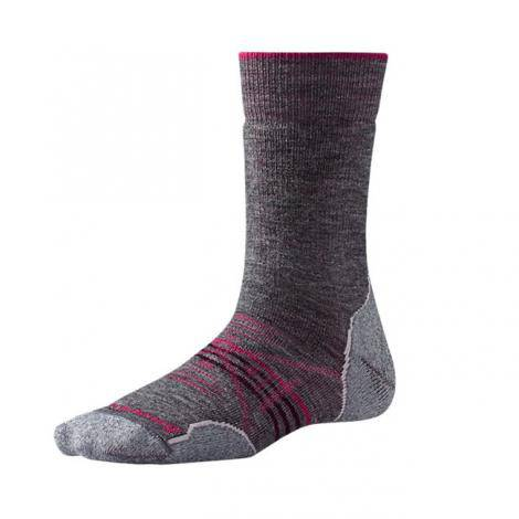Smartwool PhD Outdoor Crew Chaussettes Femme - Medium Gray