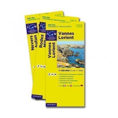 Top 100 Tourismo e Scoperte, mappa 1:100000