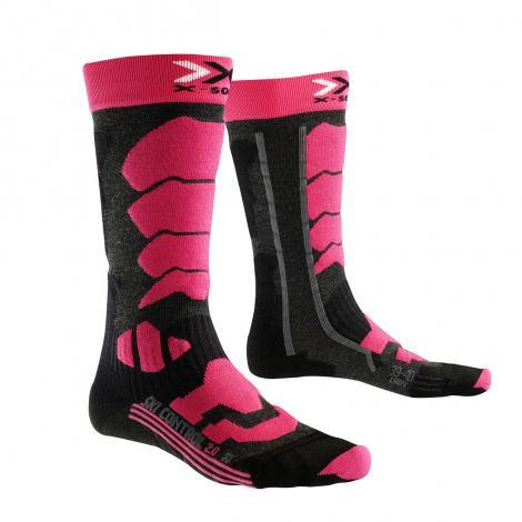 X-Socks Ski Control 2.0 Donna - Anthracite/Fuschia